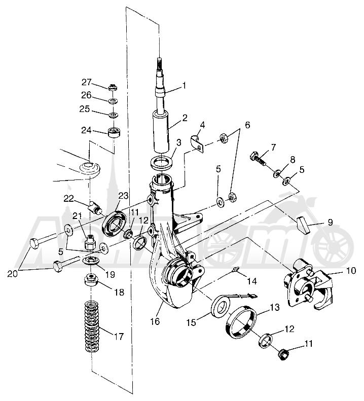 Запчасти для Квадроцикла Polaris 1997 SWEDISH MAGNUM 4X4 - S97AC42E Раздел: FRONT STRUT MAGNUM 4X4 W97AC42A, SWEDISH MAGNUM 4X4 S97AC42E AND NORWEGIAN | перед стойка MAGNUM 4X4 W97AC42A, SWEDISH MAGNUM 4X4 S97AC42E и NORWEGIAN
