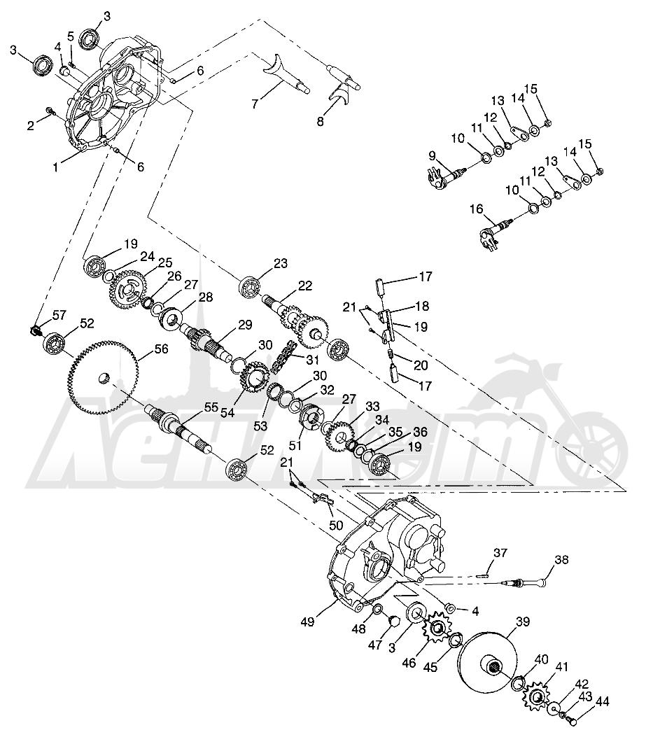 Запчасти для Квадроцикла Polaris 1997 SWEDISH MAGNUM 6X6 - S97AE42E Раздел: GEARCASE MAGNUM 6X6 W97AE42A AND SWEDISH MAGNUM 6X6 S97AE42E | коробка передач MAGNUM 6X6 W97AE42A и SWEDISH MAGNUM 6X6 S97AE42E