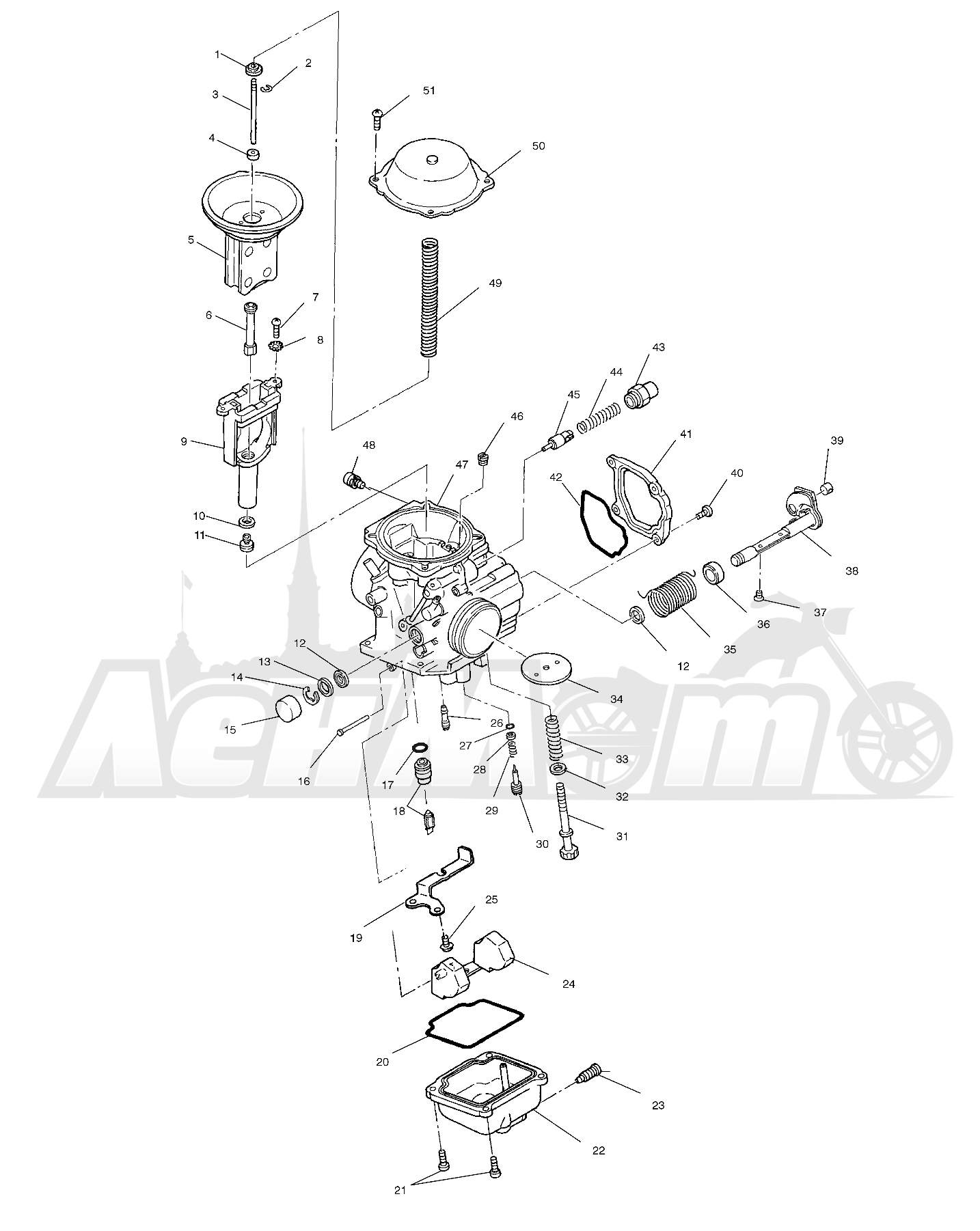 Запчасти для Квадроцикла Polaris 1997 SWEDISH SPORTSMAN 50 - S97CH50E Раздел: CARBURETOR - W97CH50A | карбюратор W97CH50A