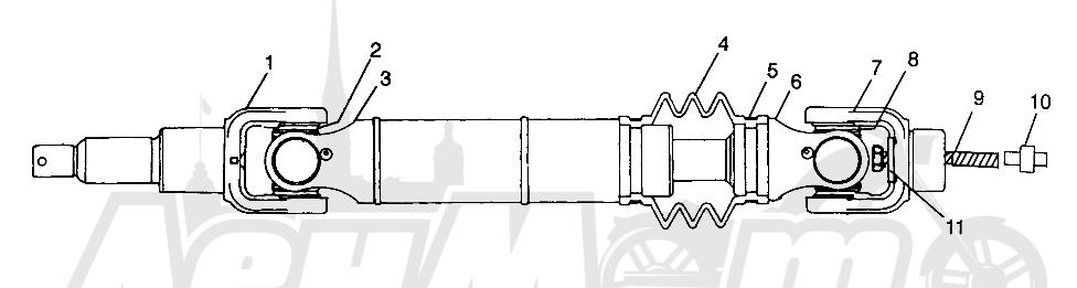 Запчасти для Квадроцикла Polaris 1997 SWEDISH SPORTSMAN 50 - S97CH50E Раздел: REAR DRIVE SHAFT SPORTSMAN 500 W97CH50A | зад приводной вал SPORTSMAN 500 W97CH50A
