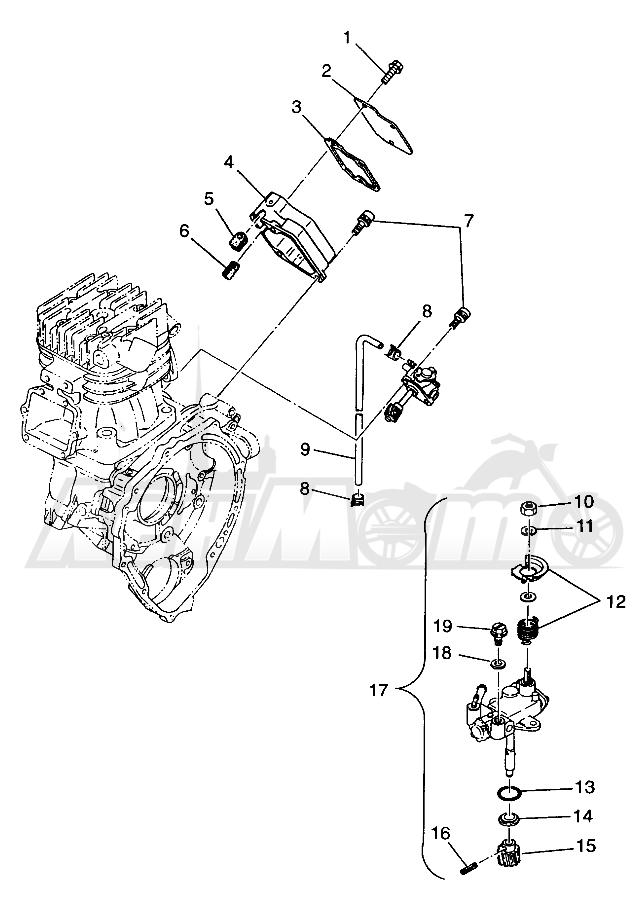 Запчасти для Квадроцикла Polaris 1997 TRAIL BLAZER - W97BA25C Раздел: OIL PUMP (SPORT) SPORT 400L W97BA38C | маслянный насос (спорт) спорт 400L W97BA38C