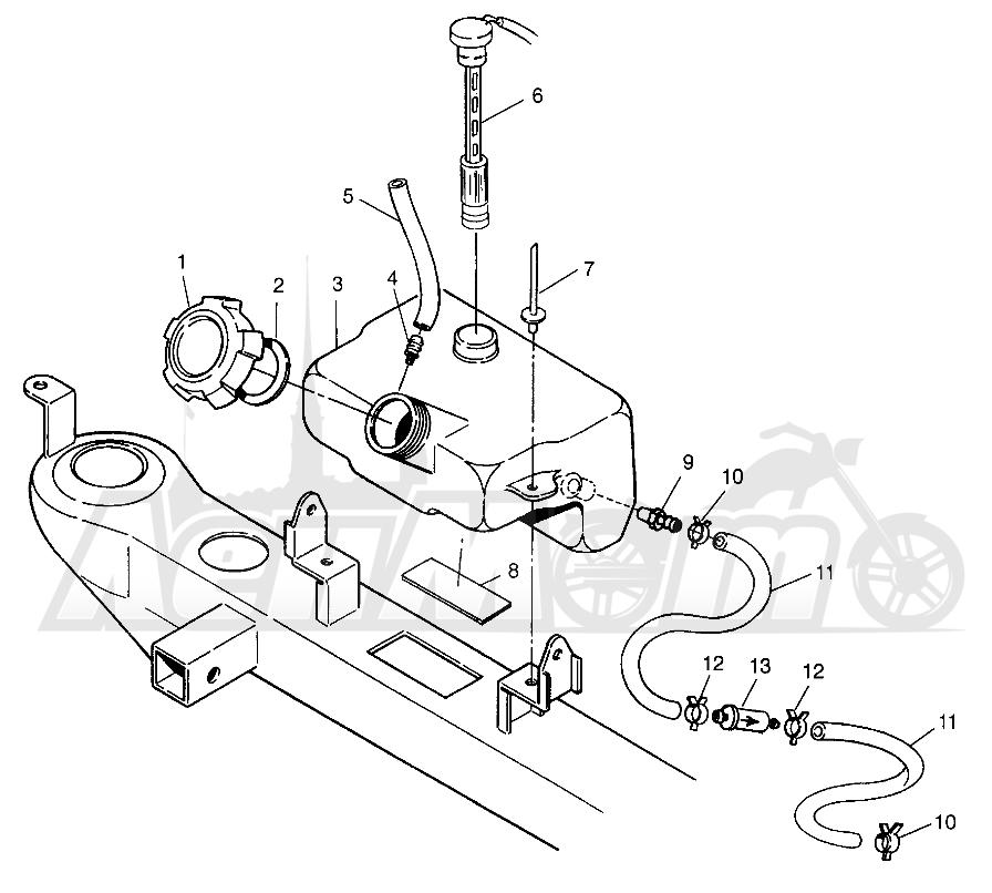 Запчасти для Квадроцикла Polaris 1997 TRAIL BOSS - W97AA25C Раздел: OIL TANK TRAIL BOSS W97AA25C | маслобак TRAIL BOSS W97AA25C