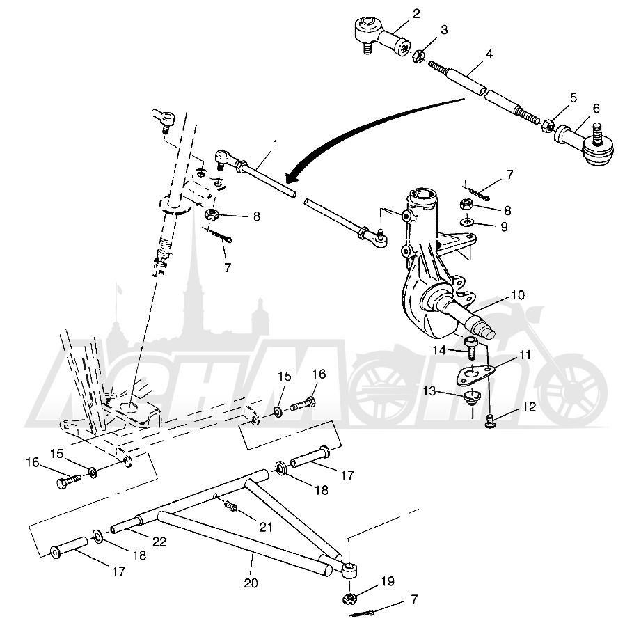 Запчасти для Квадроцикла Polaris 1997 TRAIL BOSS - W97AA25C Раздел: STEERING/A - ARM TRAIL BOSS W97AA25C | рулевое управление/A рычаг TRAIL BOSS W97AA25C
