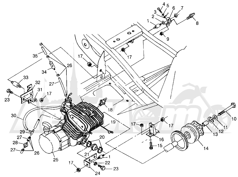 Запчасти для Квадроцикла Polaris 1997 XPLORER 300 - W97CC28C Раздел: ENGINE MOUNTING XPLORER 300 W97CC28C   двигатель крепления XPLORER 300 W97CC28C