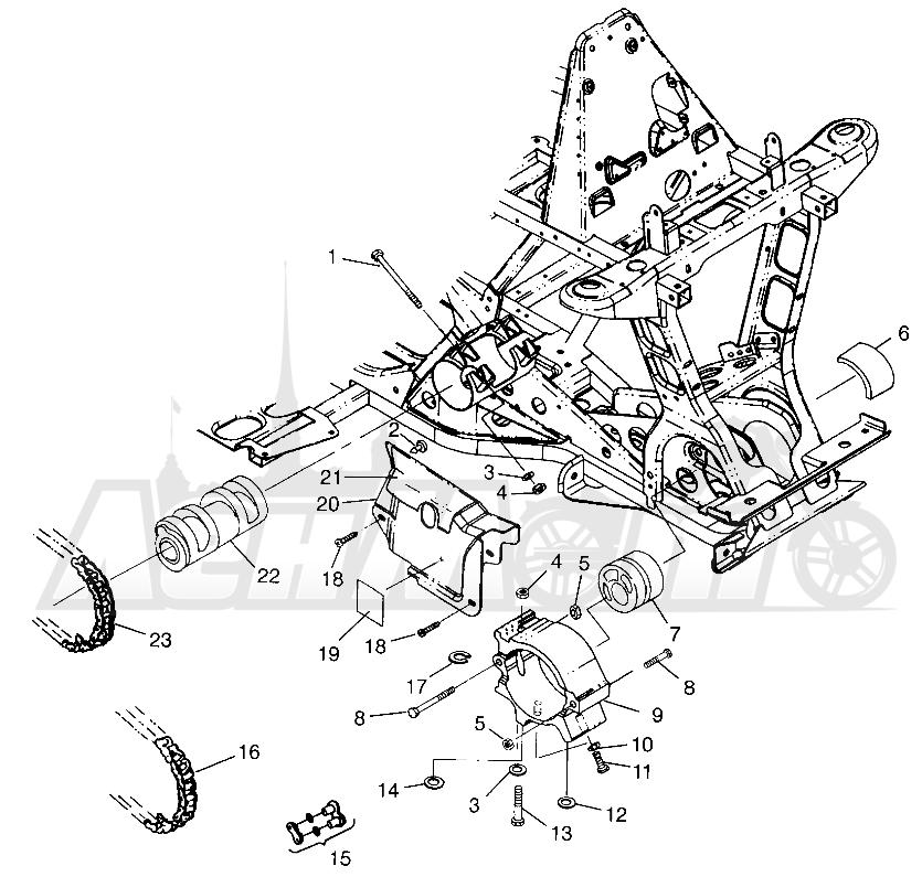 Запчасти для Квадроцикла Polaris 1997 XPLORER 300 - W97CC28C Раздел: FRONT DRIVE XPLORER 300 W97CC28C | перед привод XPLORER 300 W97CC28C