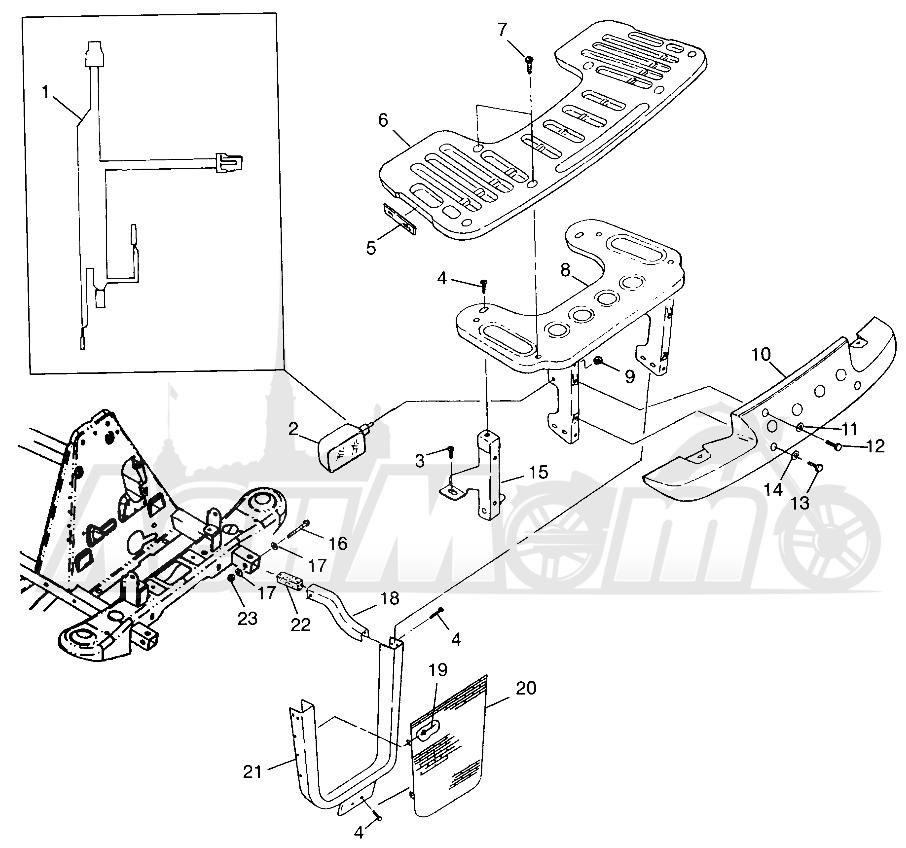 Запчасти для Квадроцикла Polaris 1997 XPLORER 300 - W97CC28C Раздел: FRONT RACK AND BUMPER MOUNTING XPLORER 300 W97CC28C | перед багажник и бампер крепления XPLORER 300 W97CC28C