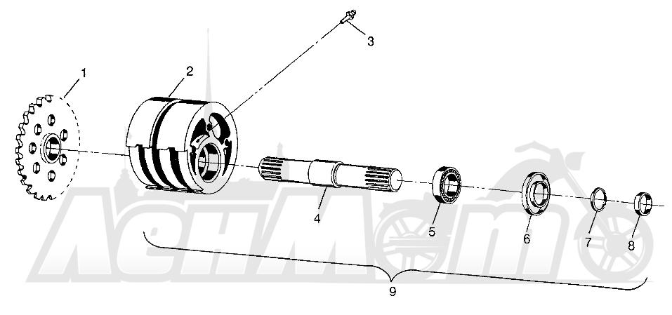Запчасти для Квадроцикла Polaris 1997 XPLORER 300 - W97CC28C Раздел: FRONT TIGHTENER XPLORER 300 W97CC28C   перед натяжное устройство XPLORER 300 W97CC28C