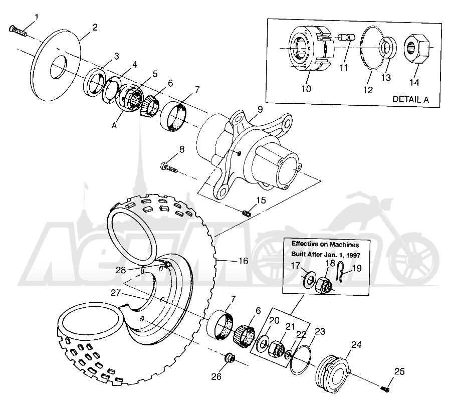 Запчасти для Квадроцикла Polaris 1997 XPLORER 300 - W97CC28C Раздел: FRONT WHEEL XPLORER 300 W97CC28C | переднее колесо XPLORER 300 W97CC28C
