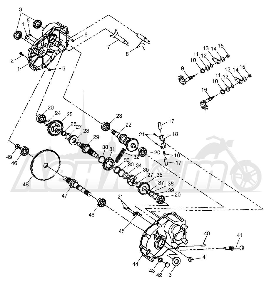 Запчасти для Квадроцикла Polaris 1997 XPLORER 300 - W97CC28C Раздел: GEARCASE XPLORER 300 W97CC28C   коробка передач XPLORER 300 W97CC28C