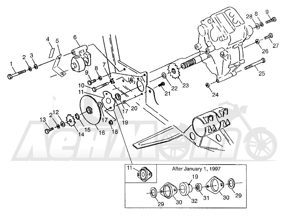 Запчасти для Квадроцикла Polaris 1997 XPLORER 300 - W97CC28C Раздел: GEARCASE/BRAKE AND CHAIN COVER MOUNTING XPLORER 300 W97CC28C | коробка передач/тормоза и цепь крышка крепления XPLORER 300 W97CC28C