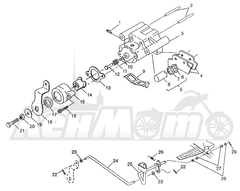Запчасти для Квадроцикла Polaris 1997 XPLORER 300 - W97CC28C Раздел: REAR BRAKE XPLORER 300 W97CC28C | задний тормоз XPLORER 300 W97CC28C