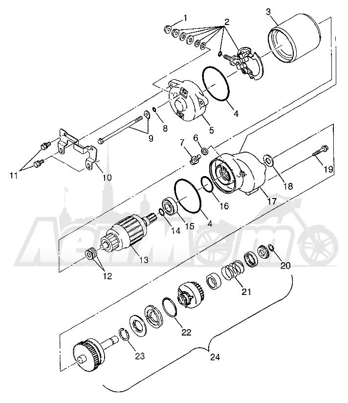 Запчасти для Квадроцикла Polaris 1997 XPLORER 300 - W97CC28C Раздел: STARTING MOTOR XPLORER 300 W97CC28C | электростартер XPLORER 300 W97CC28C