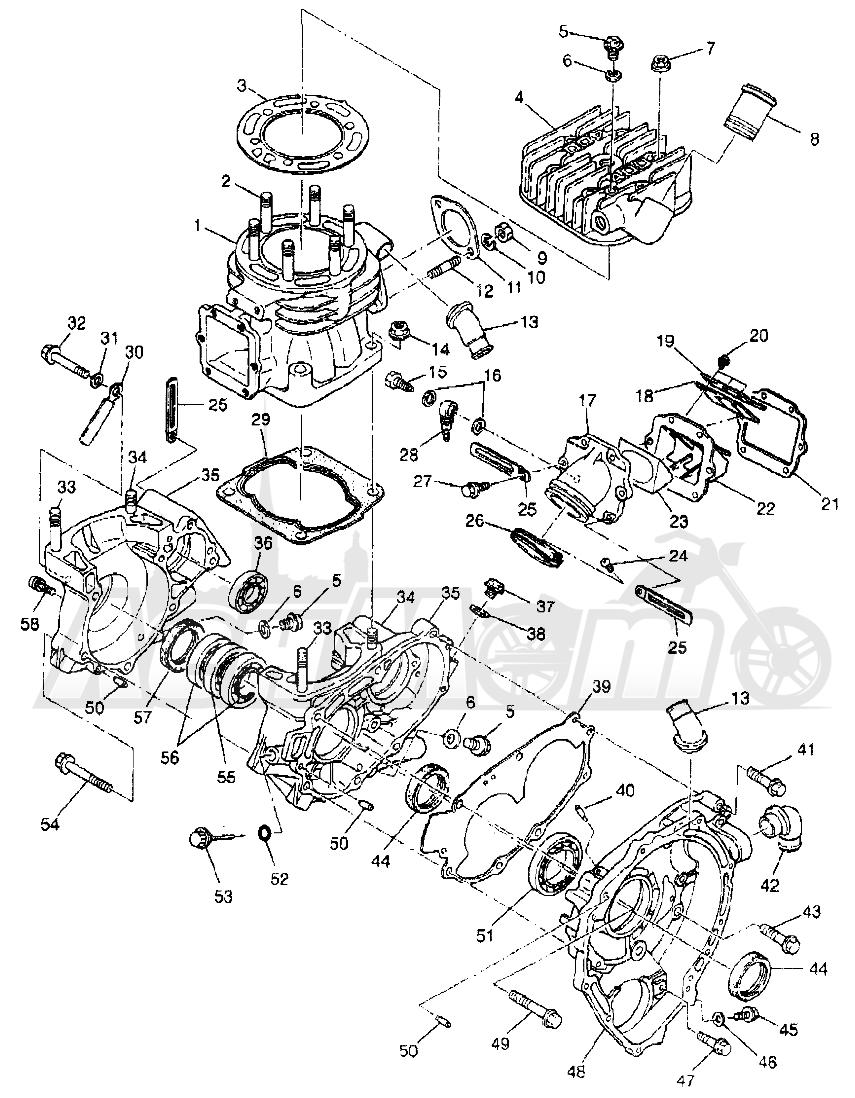Запчасти для Квадроцикла Polaris 1997 XPLORER 400L - W97CC38C Раздел: CRANKCASE AND CYLINDER XPLORER 400L W97CC38C | картер и цилиндр XPLORER 400L W97CC38C