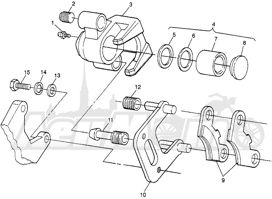 Запчасти для Квадроцикла Polaris 1997 XPLORER 400L - W97CC38C Раздел: FRONT BRAKE XPLORER 400L W97CC38C | передний тормоз XPLORER 400L W97CC38C