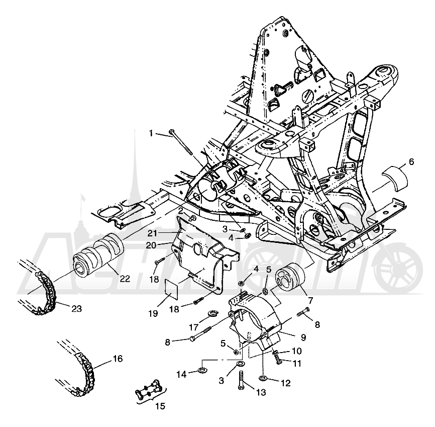 Запчасти для Квадроцикла Polaris 1997 XPLORER 400L - W97CC38C Раздел: FRONT DRIVE XPLORER 400L W97CC38C | перед привод XPLORER 400L W97CC38C