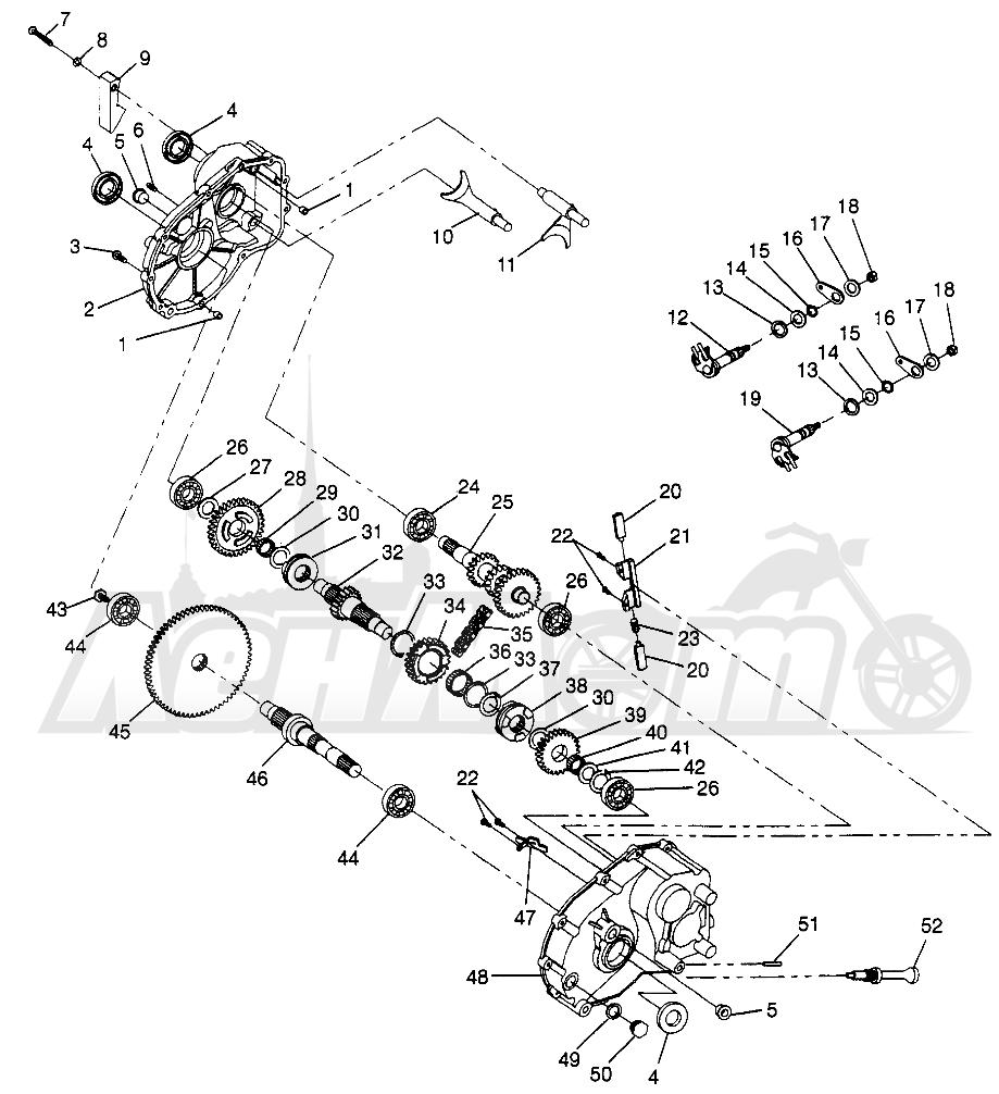 Запчасти для Квадроцикла Polaris 1997 XPLORER 400L - W97CC38C Раздел: GEARCASE XPLORER 400L W97CC38C | коробка передач XPLORER 400L W97CC38C