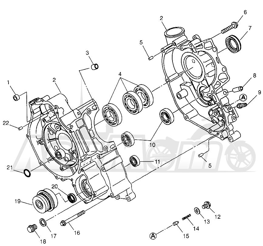 Запчасти для Квадроцикла Polaris 1997 XPLORER 500 - W97CD50A Раздел: CRANKCASE XPLORER 500 W97CD50A | картер XPLORER 500 W97CD50A