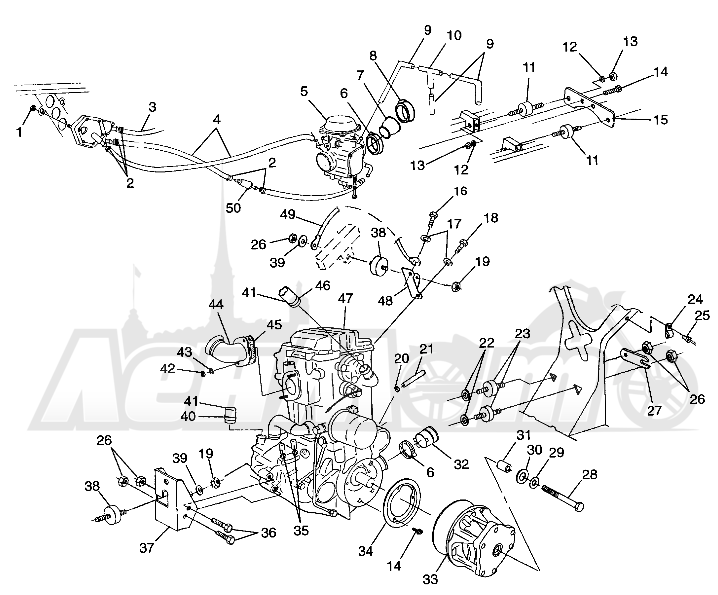 Запчасти для Квадроцикла Polaris 1997 XPLORER 500 - W97CD50A Раздел: ENGINE MOUNTING XPLORER 500 W97CD50A   двигатель крепления XPLORER 500 W97CD50A