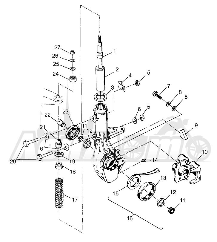 Запчасти для Квадроцикла Polaris 1997 XPLORER 500 - W97CD50A Раздел: FRONT STRUT - W97CD50A | перед стойка W97CD50A