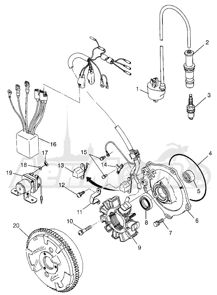 Запчасти для Квадроцикла Polaris 1997 XPLORER 500 - W97CD50A Раздел: MAGNETO XPLORER 500 W97CD50A   магнето XPLORER 500 W97CD50A