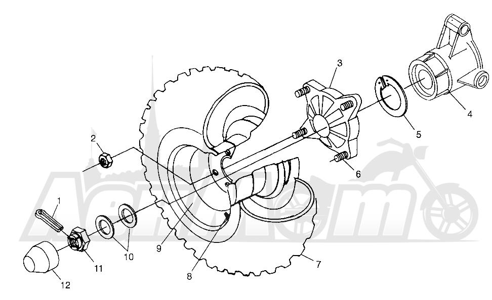 Запчасти для Квадроцикла Polaris 1997 XPLORER 500 - W97CD50A Раздел: REAR WHEEL DRIVE XPLORER 500 W97CD50A | заднее колесо привод XPLORER 500 W97CD50A