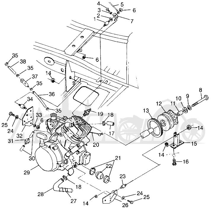 Запчасти для Квадроцикла Polaris 1997 XPRESS 300 - W97CA28C Раздел: ENGINE MOUNTING (400L) XPRESS 400L W97CA38C | двигатель крепления (400L) XPRESS 400L W97CA38C
