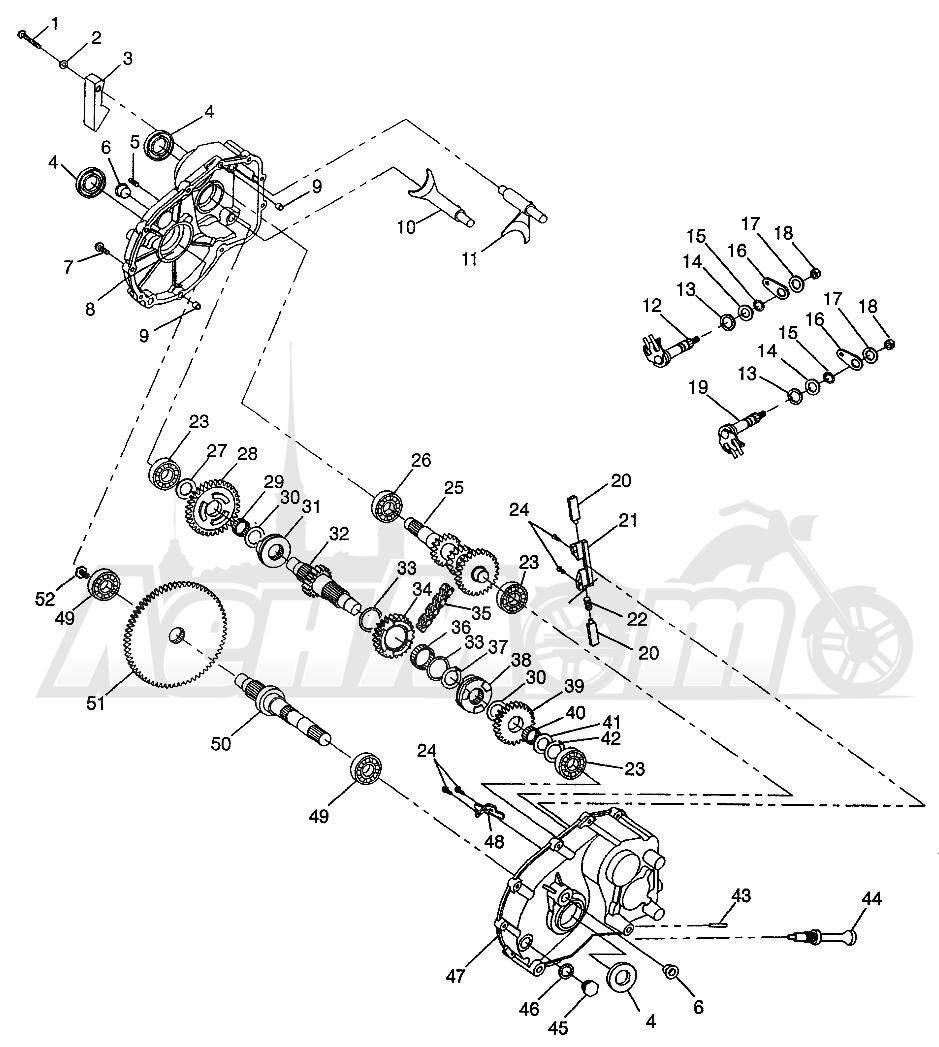 Запчасти для Квадроцикла Polaris 1997 XPRESS 400 - W97CA38C Раздел: GEARCASE XPRESS 300 W97CA28C AND XPRESS 400L W97CA38C | коробка передач XPRESS 300 W97CA28C и XPRESS 400L W97CA38C