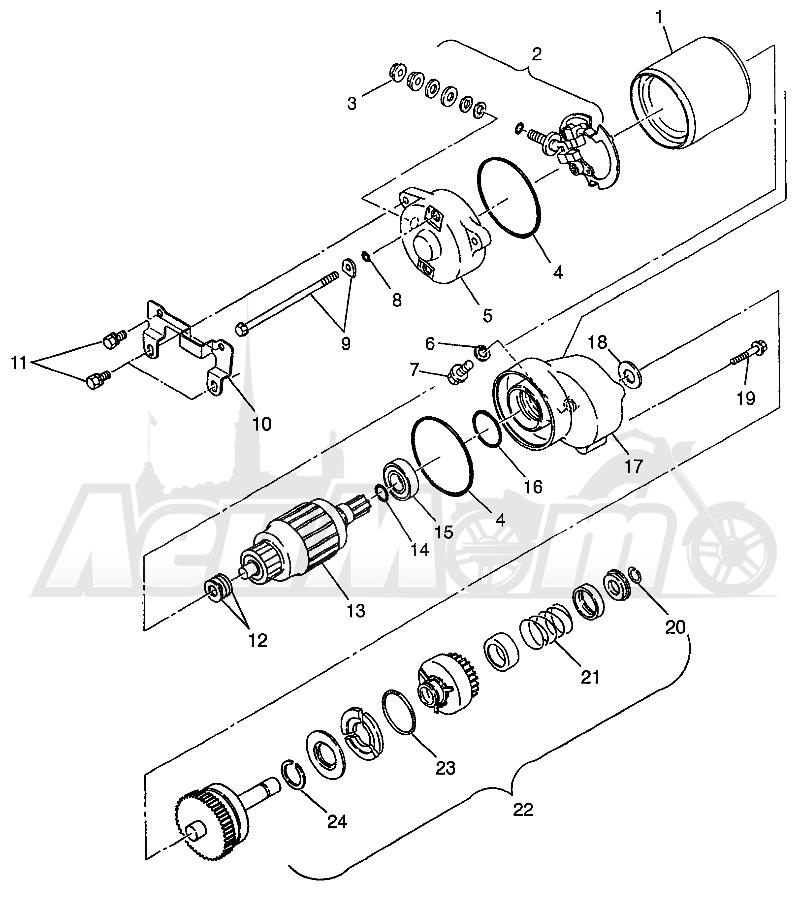 Запчасти для Квадроцикла Polaris 1997 XPRESS 400 - W97CA38C Раздел: STARTING MOTOR (300) XPRESS 300 W97CA28C | электростартер (300) XPRESS 300 W97CA28C