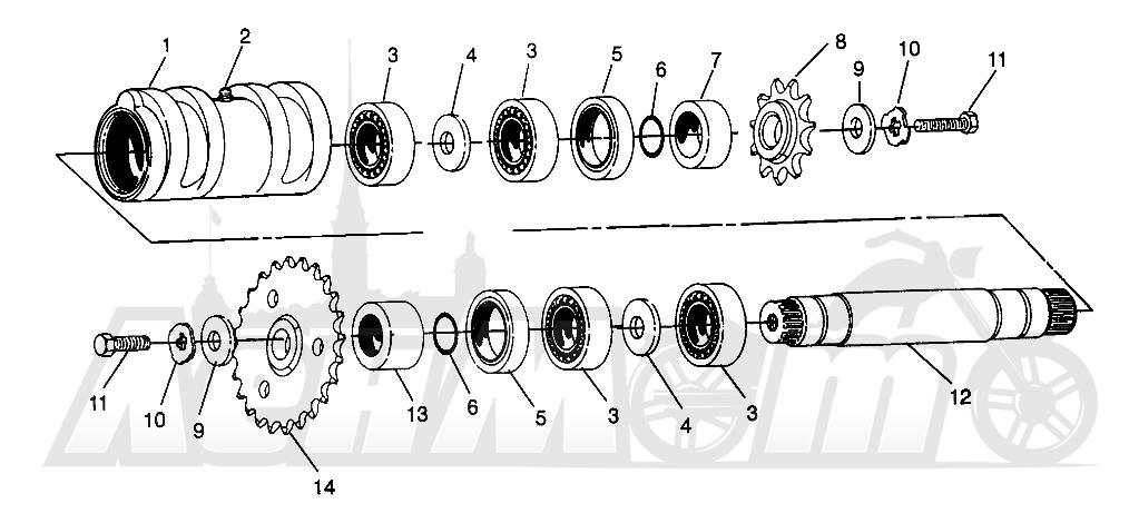 Запчасти для Квадроцикла Polaris 1996 400L 6X6 - W968740 Раздел: CENTER TIGHTENER 6X6 400L - W968740 AND 6X6 400L NORWEGIAN - N968740   центр натяжное устройство 6X6 400L W968740 и 6X6 400L NORWEGIAN N968740