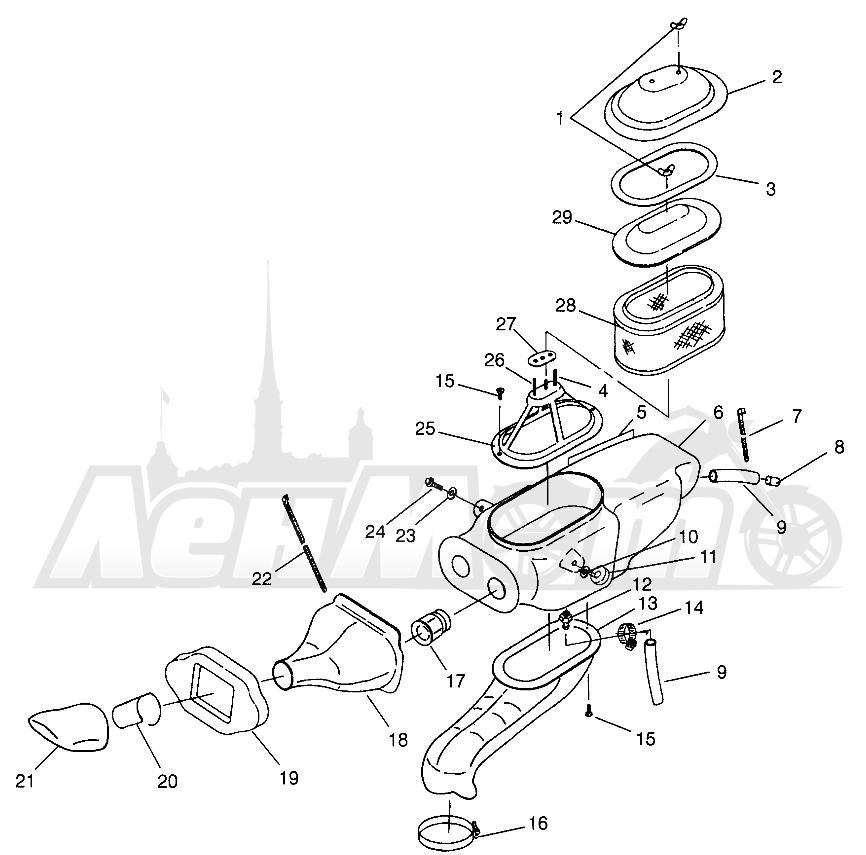 Запчасти для Квадроцикла Polaris 1996 MAGNUM 2X4 - W967544 Раздел: AIR BOX MAGNUM 2X4 W967544 | воздух короб MAGNUM 2X4 W967544