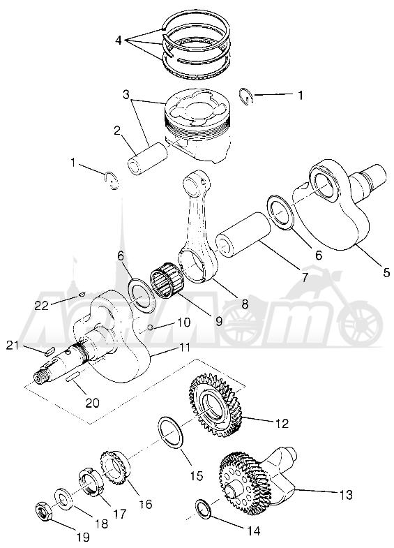Запчасти для Квадроцикла Polaris 1996 MAGNUM 2X4 - W967544 Раздел: CRANKSHAFT AND PISTON MAGNUM 2X4 W967544 | коленвал и поршень MAGNUM 2X4 W967544