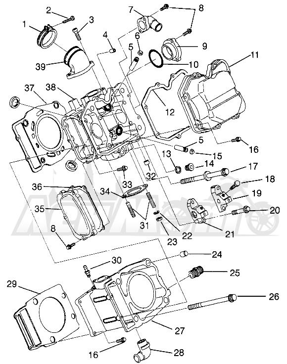 Запчасти для Квадроцикла Polaris 1996 MAGNUM 2X4 - W967544 Раздел: CYLINDER MAGNUM 2X4 W967544 | цилиндр MAGNUM 2X4 W967544