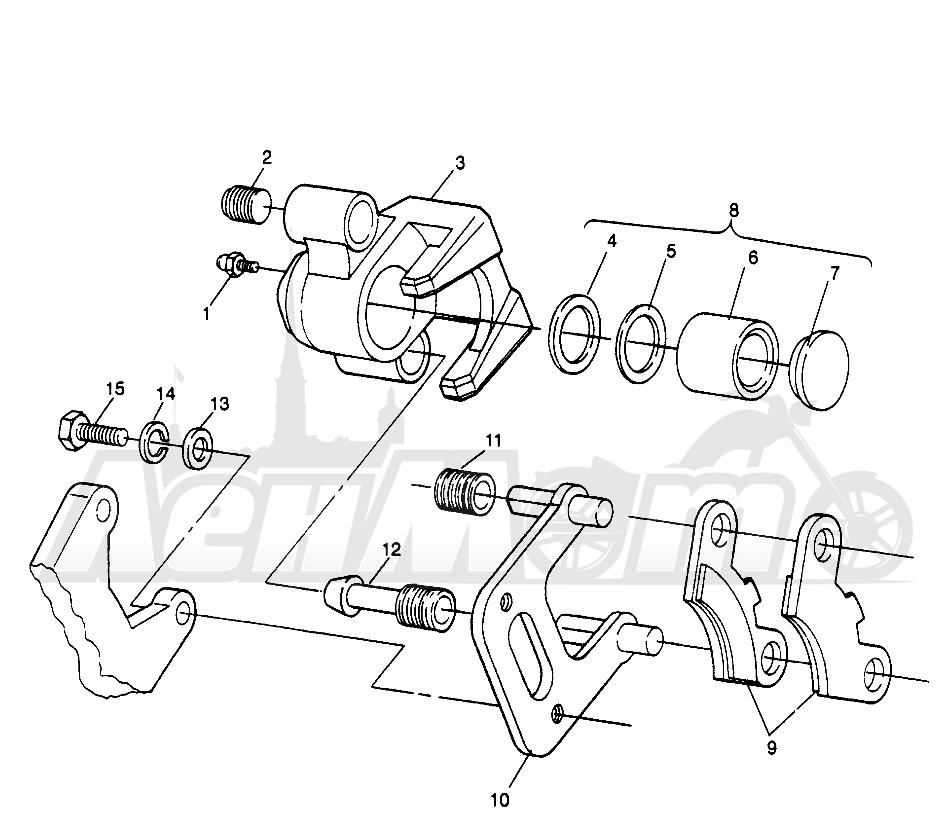 Запчасти для Квадроцикла Polaris 1996 MAGNUM 2X4 - W967544 Раздел: FRONT BRAKE MAGNUM 2X4 W967544 | передний тормоз MAGNUM 2X4 W967544