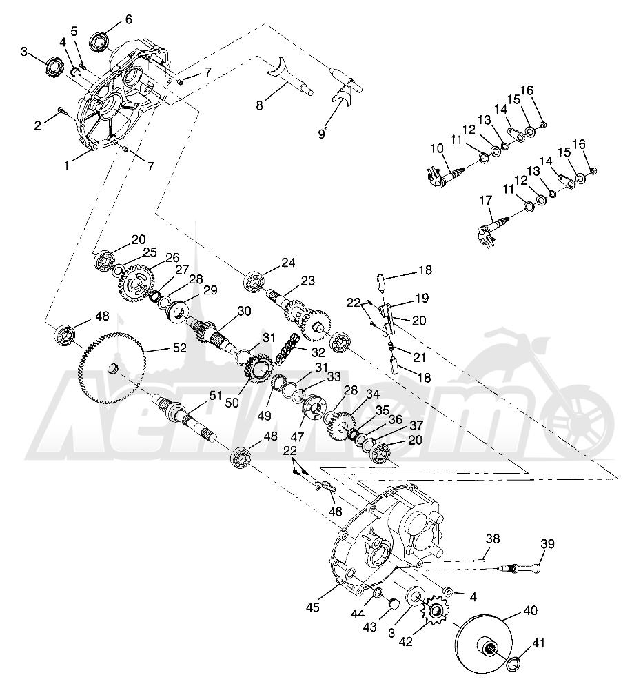 Запчасти для Квадроцикла Polaris 1996 MAGNUM 2X4 - W967544 Раздел: GEARCASE MAGNUM 2X4 W967544 | коробка передач MAGNUM 2X4 W967544