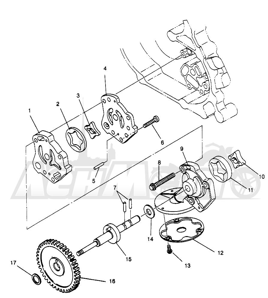 Запчасти для Квадроцикла Polaris 1996 MAGNUM 2X4 - W967544 Раздел: OIL PUMP MAGNUM 2X4 W967544 | маслянный насос MAGNUM 2X4 W967544