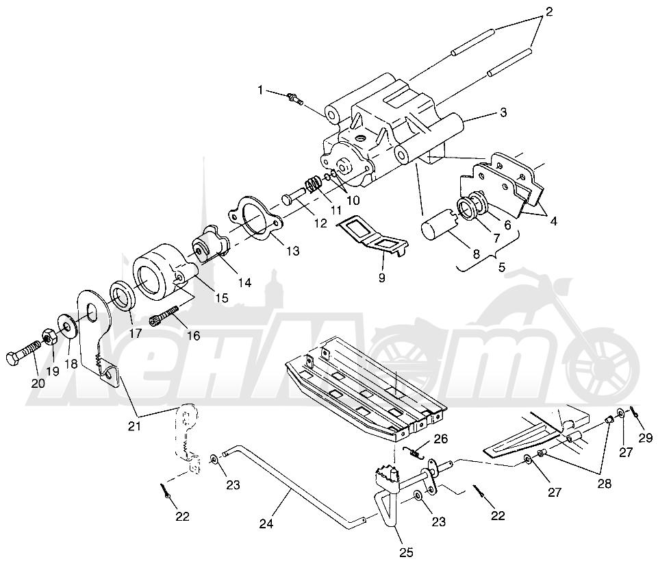 Запчасти для Квадроцикла Polaris 1996 MAGNUM 2X4 - W967544 Раздел: REAR BRAKE MAGNUM 2X4 W967544 | задний тормоз MAGNUM 2X4 W967544