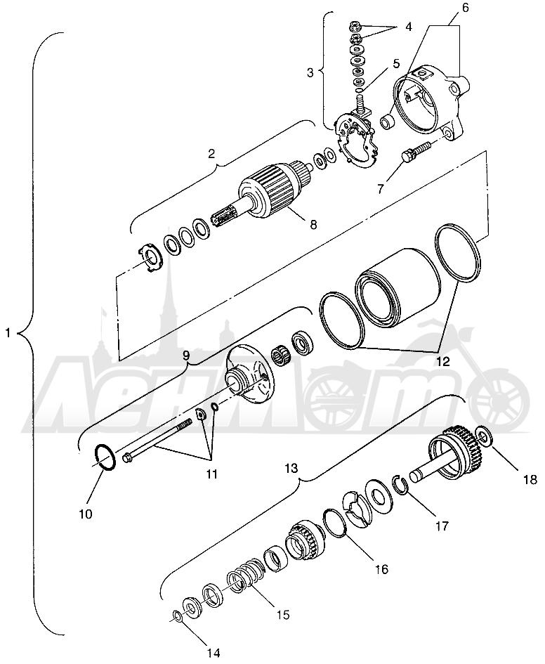 Запчасти для Квадроцикла Polaris 1996 MAGNUM 4X4 - W968144 Раздел: STARTING MOTOR MAGNUM 4X4 W968144 AND SWEDISH MAGNUM 4X4 S968144 | электростартер MAGNUM 4X4 W968144 и SWEDISH MAGNUM 4X4 S968144