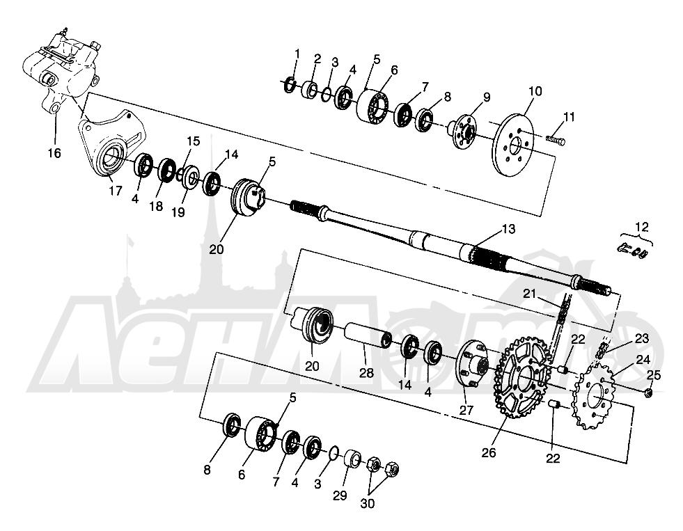 Запчасти для Квадроцикла Polaris 1996 MAGNUM 6X6 - W968744 Раздел: MIDDLE DRIVE MAGNUM 6X6 - W968744 AND MAGNUM 6X6 SWEDISH - S968744 | промежуточный привод MAGNUM 6X6 W968744 и MAGNUM 6X6 SWEDISH S968744