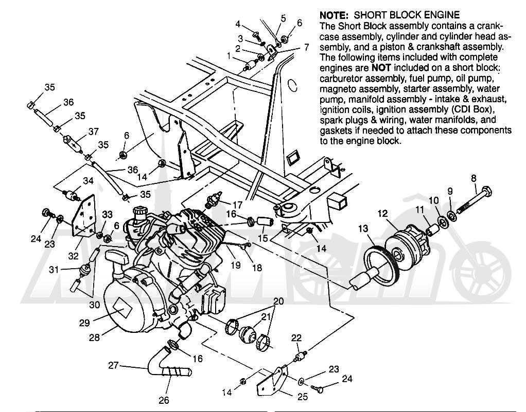 Запчасти для Квадроцикла Polaris 1996 NORWEGIAN 400L 6X6 - N968740 Раздел: ENGINE MOUNTING 6X6 400L - W968740 AND 6X6 400L NORWEGIAN - N968740   двигатель крепления 6X6 400L W968740 и 6X6 400L NORWEGIAN N968740