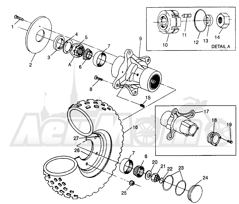 Запчасти для Квадроцикла Polaris 1996 NORWEGIAN 400L 6X6 - N968740 Раздел: FRONT WHEEL 6X6 400L W968740 AND 6X6 400L NORWEGIAN N968740   переднее колесо 6X6 400L W968740 и 6X6 400L NORWEGIAN N968740
