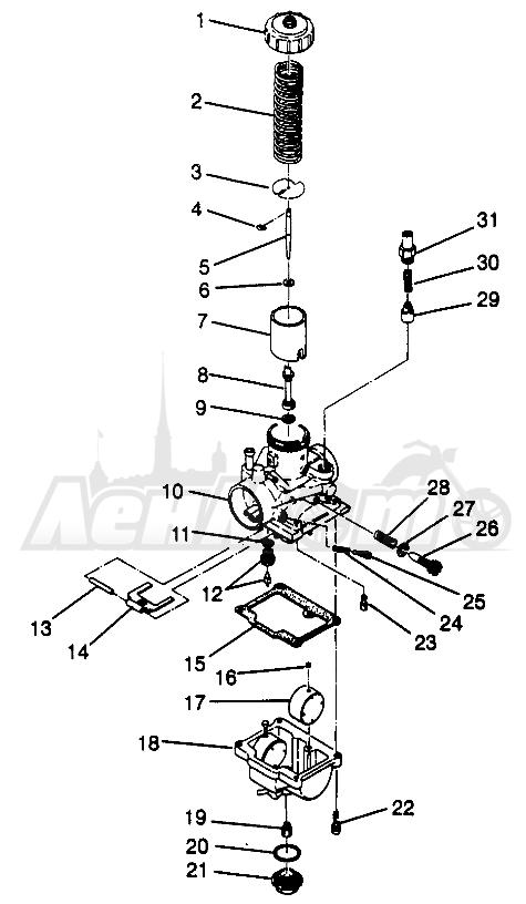 Запчасти для Квадроцикла Polaris 1996 SCRAMBLER - W967840 Раздел: CARBURETOR SCRAMBLER W967840   карбюратор SCRAMBLER W967840