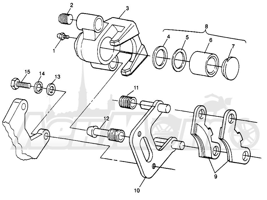 Запчасти для Квадроцикла Polaris 1996 SCRAMBLER - W967840 Раздел: FRONT BRAKE SCRAMBLER W967840 | передний тормоз SCRAMBLER W967840