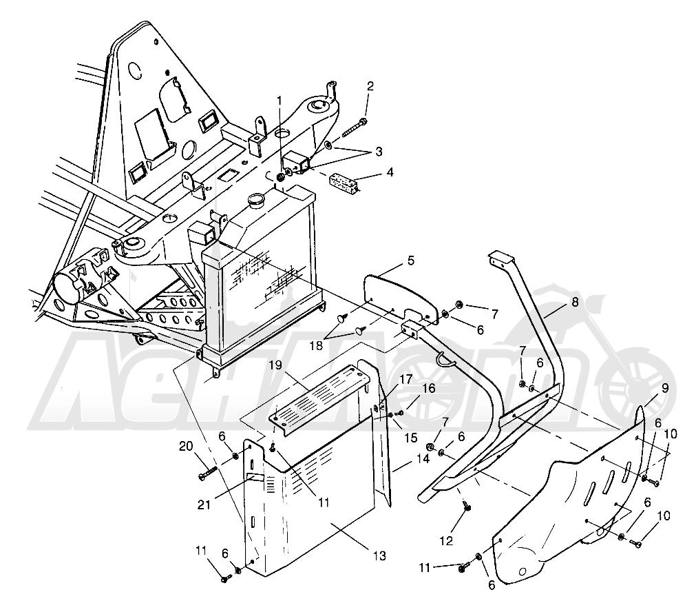 Запчасти для Квадроцикла Polaris 1996 SCRAMBLER - W967840 Раздел: FRONT BUMPER AND SHIELDS SCRAMBLER W967840 | перед бампер и экраны SCRAMBLER W967840
