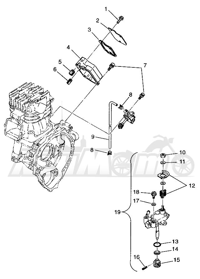 Запчасти для Квадроцикла Polaris 1996 SCRAMBLER - W967840 Раздел: OIL PUMP SCRAMBLER W967840 | маслянный насос SCRAMBLER W967840