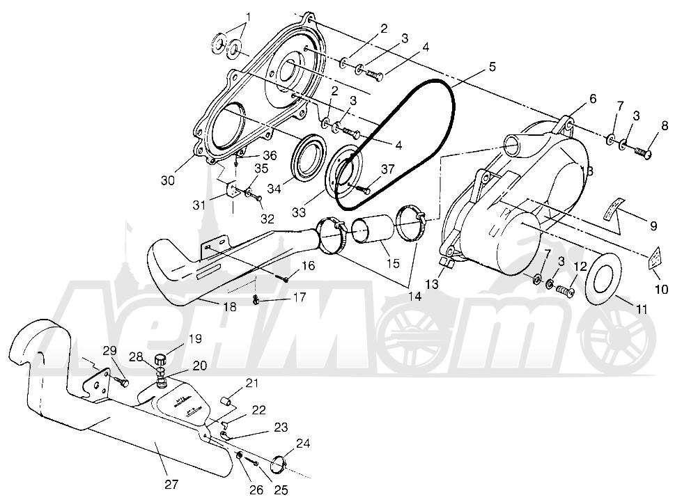 Запчасти для Квадроцикла Polaris 1996 SPORT 400L - W968540 Раздел: CLUTCH COVER (SPORT) - W968540 | сцепление крышка (спорт) W968540
