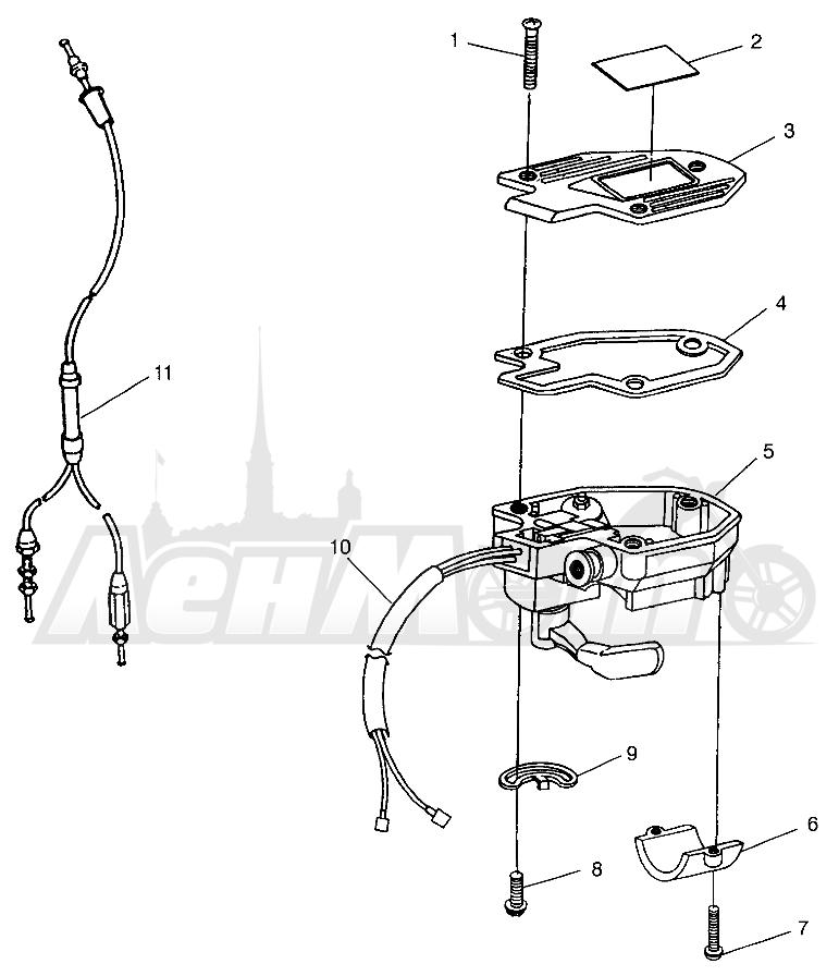 Запчасти для Квадроцикла Polaris 1996 SPORT 400L - W968540 Раздел: CONTROLS - THROTTLE ASSEMBLY/CABLE - W968540 | органы управления дроссель в сборе/трос, кабель W968540