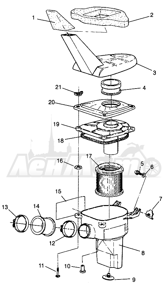 Запчасти для Квадроцикла Polaris 1996 SPORTSMAN 4X4 - W968040 Раздел: AIR BOX SPORTSMAN 4X4 W968040 | воздух короб SPORTSMAN 4X4 W968040