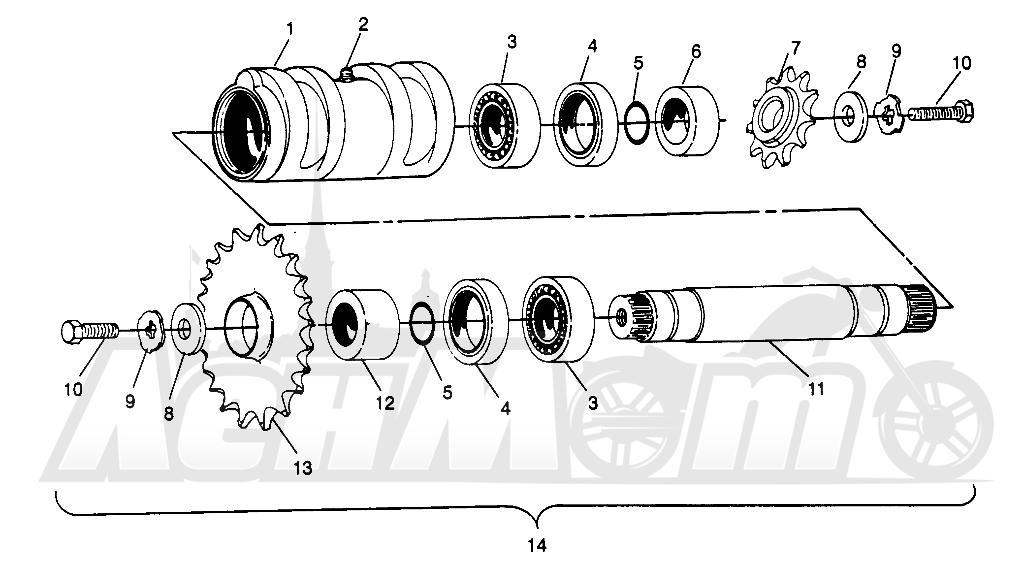 Запчасти для Квадроцикла Polaris 1996 SPORTSMAN 4X4 - W968040 Раздел: CENTER TIGHTENER SPORTSMAN 4X4 W968040 | центр натяжное устройство SPORTSMAN 4X4 W968040