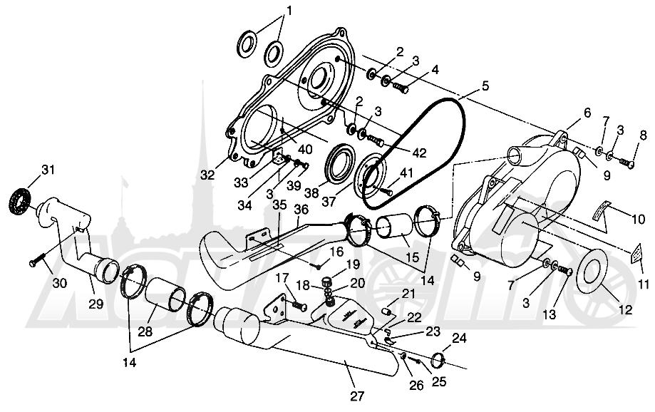 Запчасти для Квадроцикла Polaris 1996 SPORTSMAN 4X4 - W968040 Раздел: CLUTCH COVER SPORTSMAN 4X4 W968040   сцепление крышка SPORTSMAN 4X4 W968040