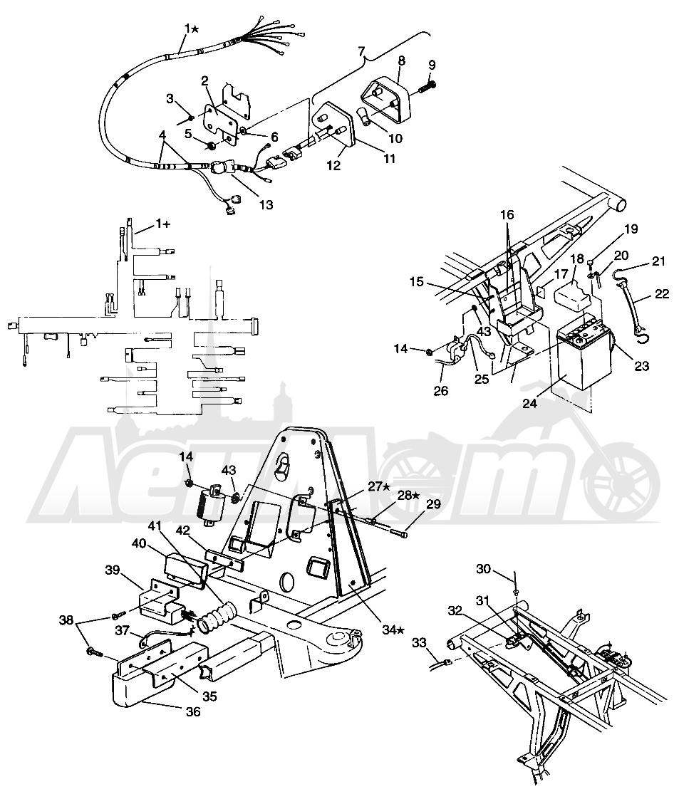Запчасти для Квадроцикла Polaris 1996 SPORTSMAN 4X4 - W968040 Раздел: ELECTRICAL/TAILLIGHT SPORTSMAN 4X4 W968040 | электрика/задний фонарь SPORTSMAN 4X4 W968040